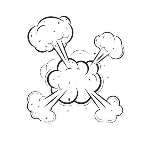 Cloud Comic Book  Design Element Vector Illustration Stock Illustratie