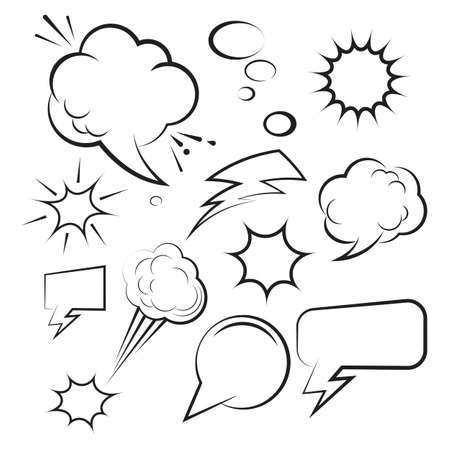Cloud Comic Book  Design Element Vector Illustration Illusztráció