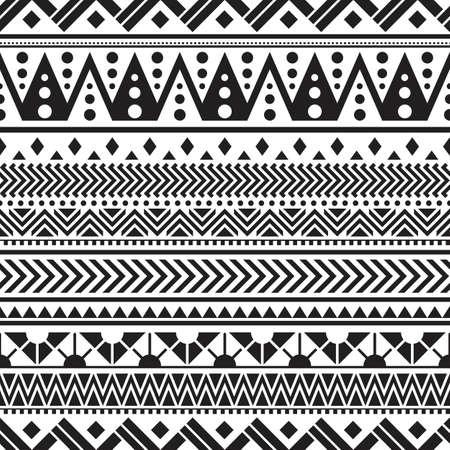 Tribal seamless pattern geometric seamless aztec pattern design Ilustración de vector