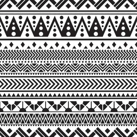 Tribal seamless pattern geometric seamless aztec pattern design Vector Illustratie