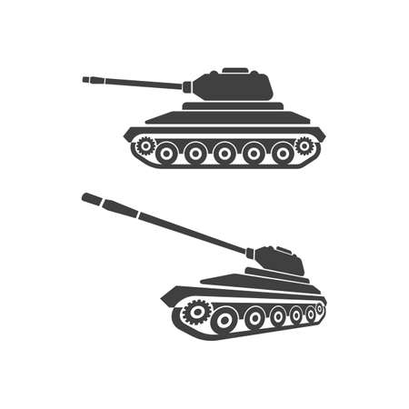 Military Tank  icon vector illustration design template 向量圖像