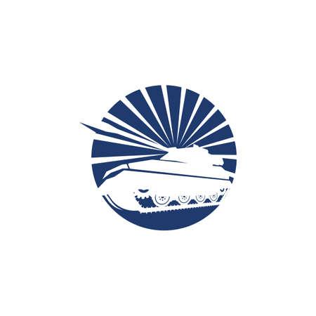 Military Tank  icon vector illustration design template 向量圖像