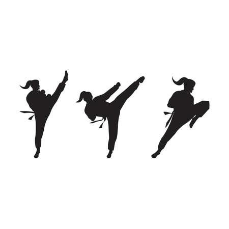 Taekwondo Vector icon design illustration Template