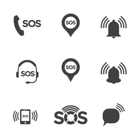 SOS Vector icon design illustration Template Vektoros illusztráció