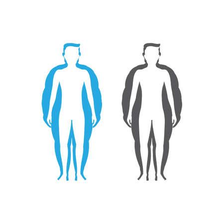 Body mass index vector illustration design template