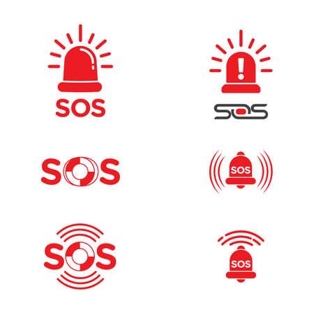 SOS Vector icon design illustration Template