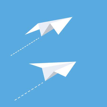 Paper plane Vector icon design illustration Template Ilustración de vector