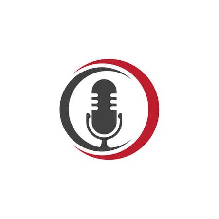 Podcast Vector icon design illustration Template