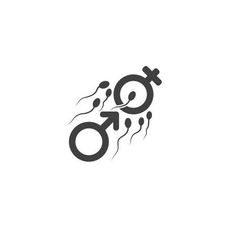 Sperm Vector icon design illustration Template