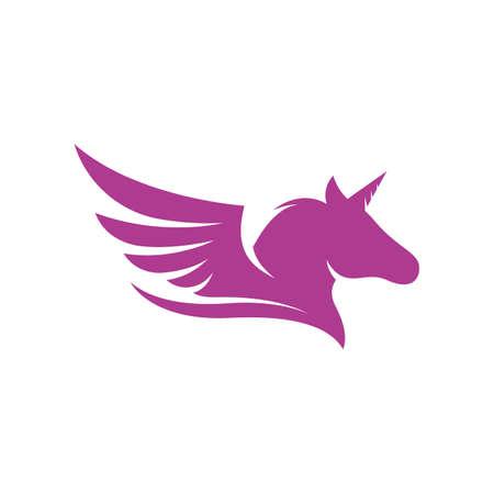 Unicorn Logo icon vector illustration design template
