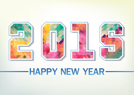 abstact: Abstact Happy New Year 2015