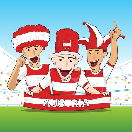 sport fan: Austria Sport Fan Vector