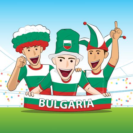 sport fan: Bulgaria Sport Fan Vector