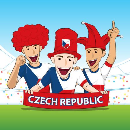 sport fan: Czech Republic Sport Fan Vector
