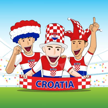 sport fan: Croatia Sport Fan Vector