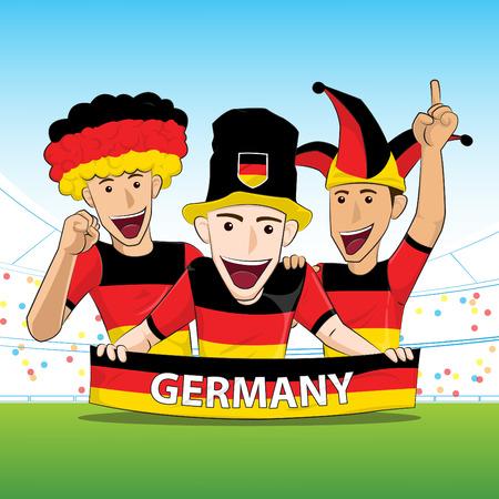 sport fan: Germany Sport Fan Vector Illustration