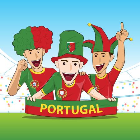 sport fan: Portugal Sport Fan Vector
