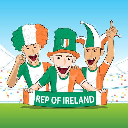 ireland: Ireland Sport Fan Vector