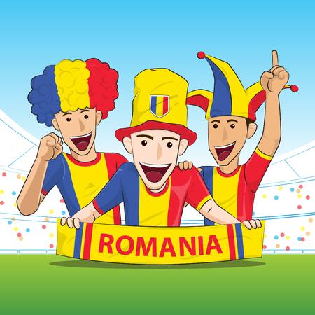 sport fan: Romania Sport Fan Vector
