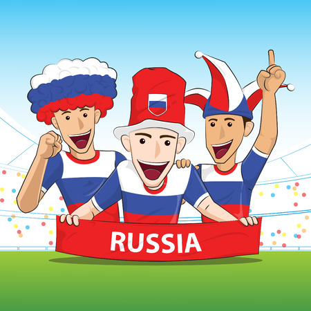 sport fan: Russia Sport Fan Vector