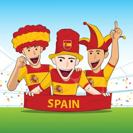 sport fan: Spain Sport Fan Vector