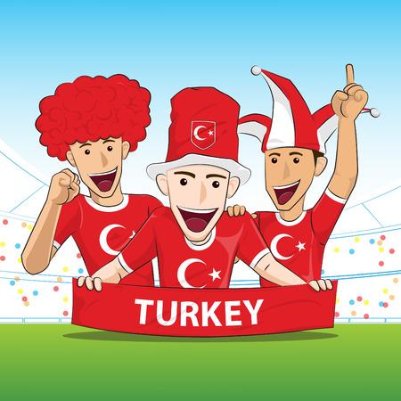 sport fan: Turkey Sport Fan Vector