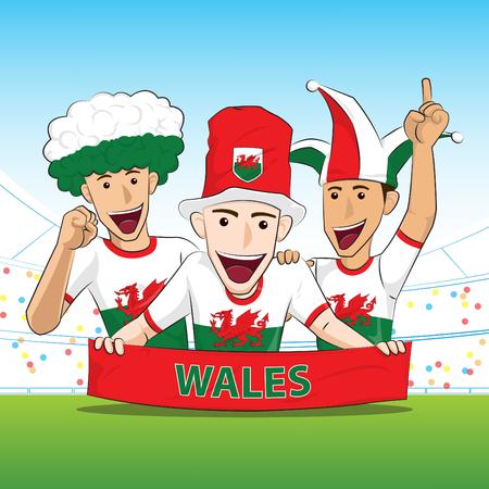 sport fan: Wales Sport Fan Vector