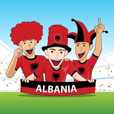 sport fan: Albania Sport Fan Vector