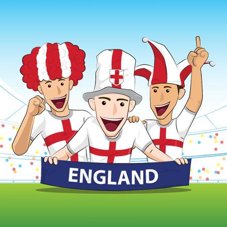 sport fan: England Sport Fan Vector