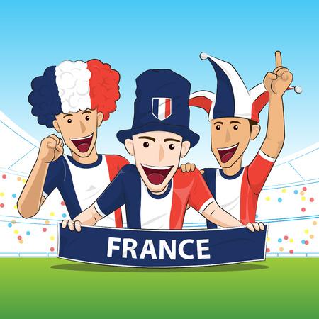 sport fan: France Sport Fan Vector Illustration