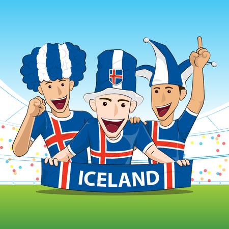 sport fan: Iceland Sport Fan Vector