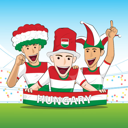 hungary: Hungary Sport Fans Vector