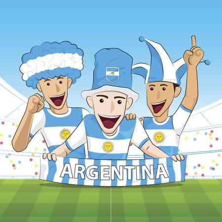 sport fan: Illustration Argentina Sport Fan Cheer