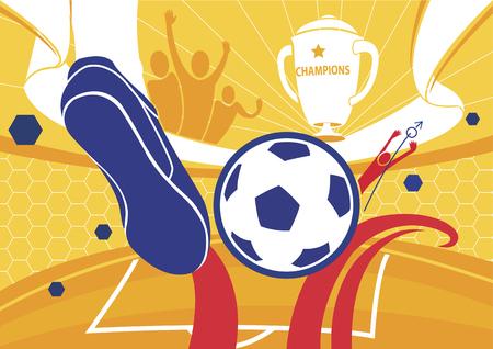 tournament chart: Football background championship illustration