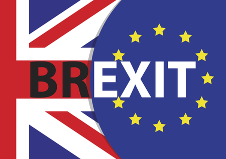 referendum: Brexit Text Isolated. Brexit referendum UK (United Kingdom or Great Britain or England) withdrawal from EU (European Union)
