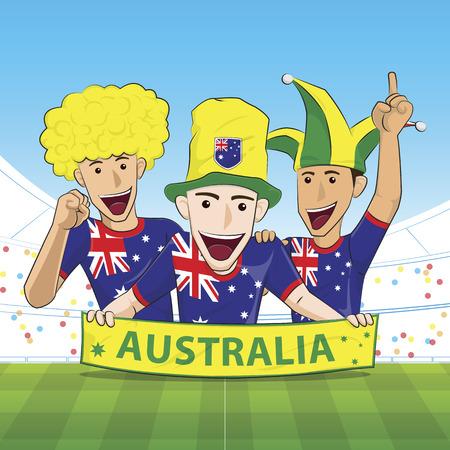sport fan: Illustration Australia Sport Fan Cheer