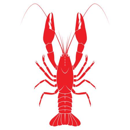 flat illustration isolated on white background. Fresh seafood icon. Vettoriali