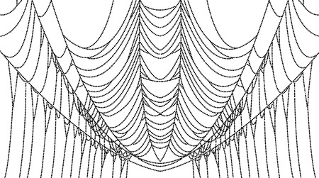 spider web: Spider web dots isolated on white, illustration. Spider web for Halloween.