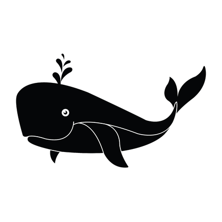 Whale icon. illustration isolated vector sign symbol