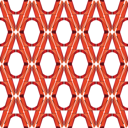 metal mesh: Vector line and angular red colors metal background pattern Illustration