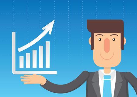 Business Plan Graph. vector illustration