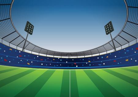 Soccer stadium football cheer fans vector background Illustration