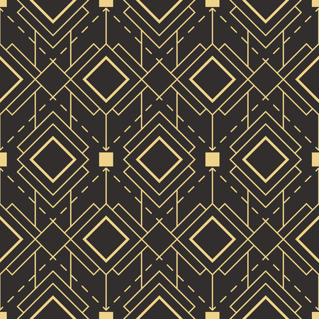 Vector moderne tegels patroon. Abstracte art deco naadloze monochrome achtergrond
