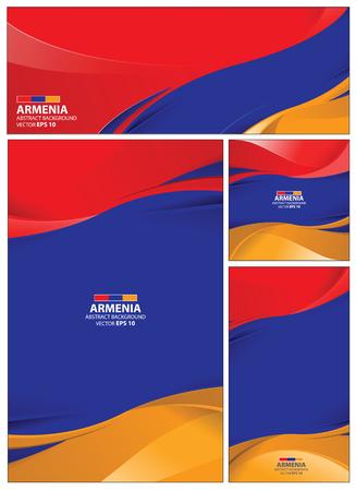 armenian: Armenia flag abstract colors background. Collection banner design. brochure vector illustration. Illustration