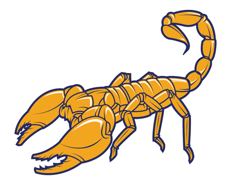 Scorpion logo. Tattoo animal. Mascot Vector illustration.