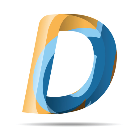 d mark: D Letter Colorful Modern Abstract Art design Icon logo. Font style, vector design template elements for your application or corporate identity.