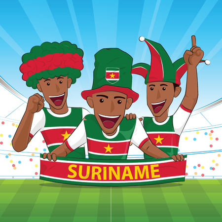 Suriname football support Vector illustration.