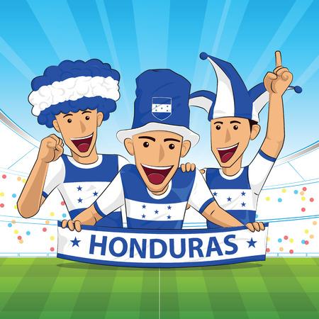 Honduras football support Vector illustration. Illustration