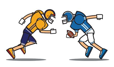 football player cartoon character. Rugby. American football. vector illustration. Illustration