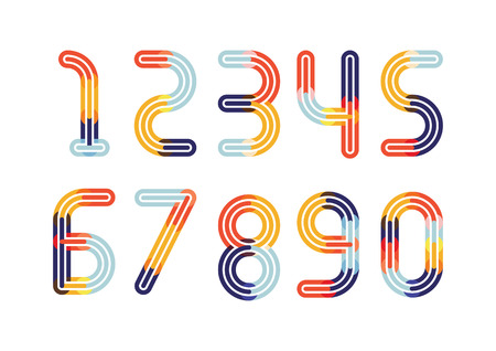 Numbers Colorful Overlay Logo Design Template Element. vector illustration. Illustration